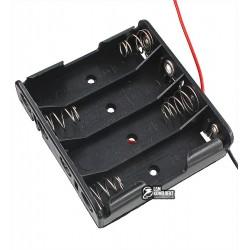 Отсек для батарей 4xAA плоский с проводами