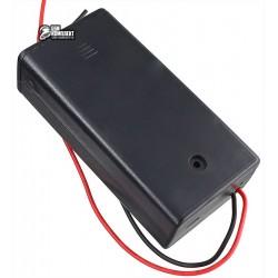 Отсек 2xAA-S для 2-х элементов АА, с кабелем, закрытый корпус с выключателем
