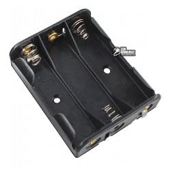 Отсек для батарей 3xAA плоский с контактами под пайку GNI0052