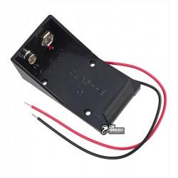 Отсек для батареи 6F22 (Крона) открытый с проводами