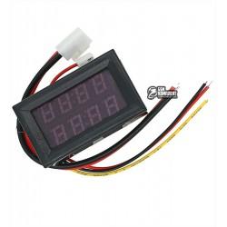 Вольтметр-Амперметр цифровой 200V/10A, 4 разряда, встраиваемый