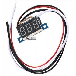 Амперметр цифровой 0-9,99А миниатюрный 0,36 КРАСНЫЙ