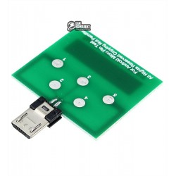 Тестовая плата AIDA DFT-micro для проверки контактов разъема micro USB