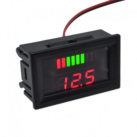 Вольтметр цифровой 12-60V с индикатором уровня, встраиваемый