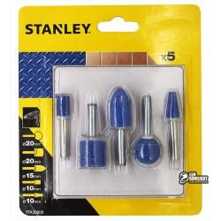 Набор абразивных насадок STANLEY шлифовальной машинки, 5шт
