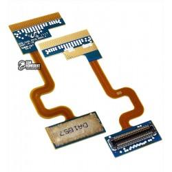 Шлейф для Samsung J400, оригинал, межплатный, с компонентами