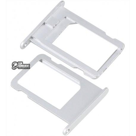 Держатель SIM-карты для Apple iPhone 5S, iPhone SE, серебристый