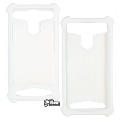 Чехол защитный универсальный 4,7-5,0, силиконовый, белый