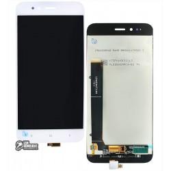 Дисплей для Xiaomi Mi A1, белый, с сенсорным экраном