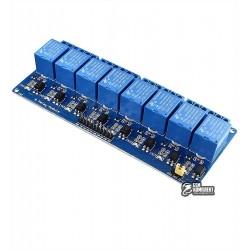 Восьмиканальный релейный модуль для ARDUINO контроллеров 12V