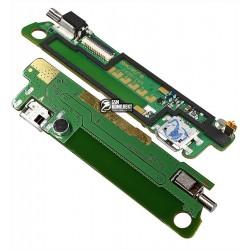 Шлейф для Lenovo S660, original, коннектора зарядки, с компонентами, плата зарядки, плата антенны, #5P69A6MVY8