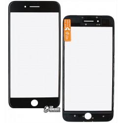 Стекло корпуса для Apple iPhone 7 Plus, с OCA-пленкой, с рамкой, черное