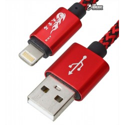 Кабель Lightning King Fire YZ-016 для iphone 5/6/7, короткий, 0,2м