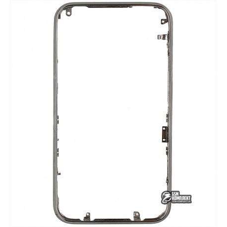 Рамка корпуса для Apple iPhone 3G, iPhone 3GS, серебристая