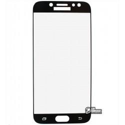 Закаленное защитное стекло для Samsung J730 Galaxy J7 (2017), 0,26 mm 9H, черное