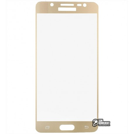 Загартоване захисне скло для Samsung J510 Galaxy J5 (2016), 0,26 мм 9H, золото