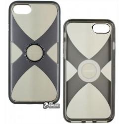 Чехол Remax X с кольцом-держателем для iPhone 7 / iPhone 8, пластик+силикон, черный