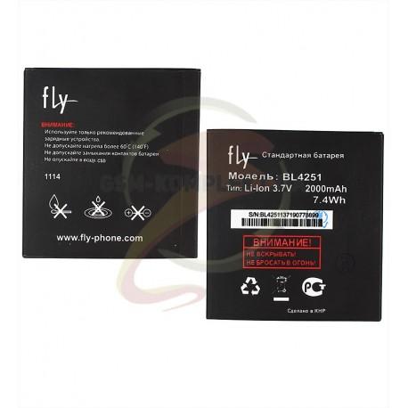 АккумуляторBL4251дляFlyIQ450,IQ450Q,оригинал,(Li-ion3.7V2000mAh),(P104-F39000-010/P104-E67001-010)