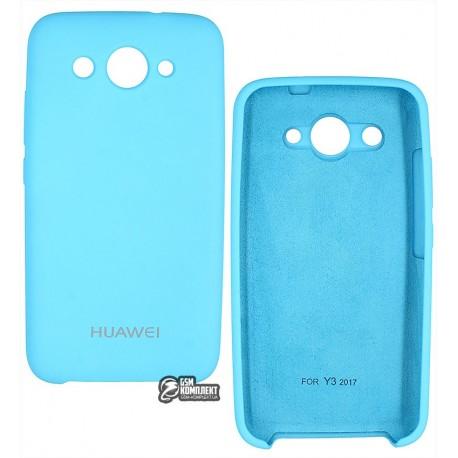 Чехол Soft Touch Huawei Y3-2017 голубой