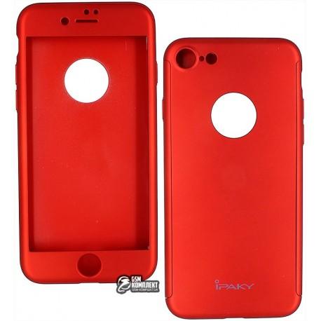 Чехол-накладка Ipaky 360 круговая защита, для iPhone 7, красная