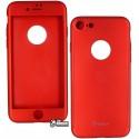 Чохол-накладка Ipaky 360 кругова захист, для iPhone 7, червоний колір