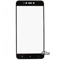 Загартоване захисне скло для Xiaomi Redmi Note 5A, 0,26 мм 9H, 2.5D, чорне
