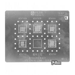 Amaoe BGA трафарет MU:1 0.12mm для процессоров MTK: MT6795W/MT6797W/MT6595/MT6732/MT6750