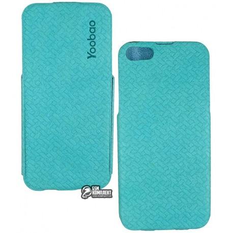 Кожаный Чехол Yoobao Fashion для iiPhone 5/5S голубой