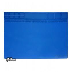 Силиконовый термоустойчивый коврик AIDA S-220, для пайки и раскладки запчастей, 405x305мм