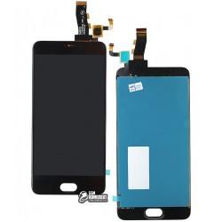 Дисплей для Meizu M5, черный, с сенсорным экраном, original (PRC)