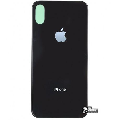 Задняя панель корпуса для Apple iPhone X, черная
