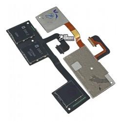 Коннектор SIM-карты для HTC One M7 Dual Sim 802w , коннектор карты памяти, со шлейфом, на две SIM-карты
