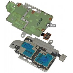 Конектор SIM-карти для Samsung I9300 Galaxy S3, з конектором карти пам'яті, зі шлейфом