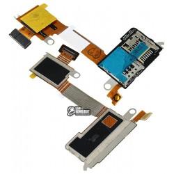 Коннектор SIM-карты для Sony D2305 Xperia M2, D2306 Xperia M2, коннектор карты памяти, со шлейфом