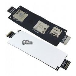 Коннектор SIM-карты для Asus ZenFone 2 (ZE550CL) карты памяти, со шлейфом, на две SIM-карты