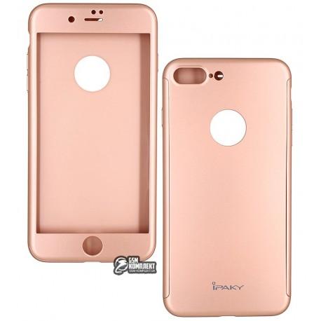 Чехол-накладка Ipaky 360 круговая защита, для iPhone 7 Plus розовя