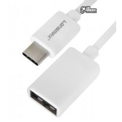 Кабель Type-C - USB, OTG Micro-USB - USB, Lonsmax, 0,1M белый