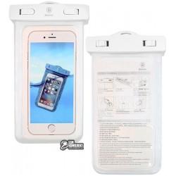 """Подводный чехол Baseus для телефона 5,5"""", аквабокс, белый"""