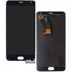 Дисплей для Meizu M1 Metal, черный, с сенсорным экраном (дисплейный модуль), original (PRC)