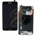 Дисплей для Samsung N900 Note 3, N9000 Note 3, серый, с рамкой, с сенсорным экраном (дисплейный модуль), original (PRC)