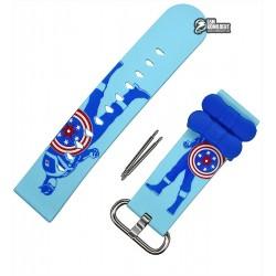 Ремешок для детских часов DF25G, синий