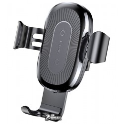 Беспроводная зарядка - автодержатель Baseus Wireless Charger Gravity Car Mount black (WXYL-01)
