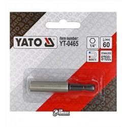 """Магнитный держатель вставок бит YATO-0465, 1/4"""" L= 60 мм"""