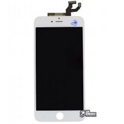 Дисплей iPhone 6S Plus, белый, с рамкой, с сенсорным экраном (дисплейный модуль), high-copy