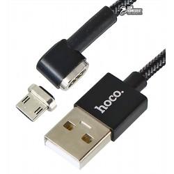 Кабель Micro-USB - USB, магнитный, Hoco U20 L-shape