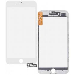Стекло корпуса для Apple iPhone 7 Plus, с рамкой, с OCA-пленкой, белое