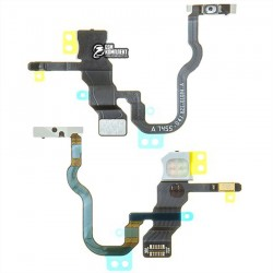 Шлейф для Apple iPhone X, кнопки включения, с компонентами
