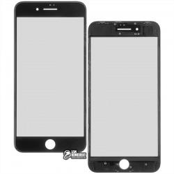 Стекло корпуса для Apple iPhone 8 Plus, с OCA-пленкой, с рамкой, черное