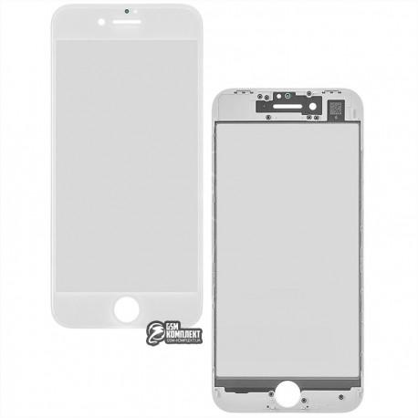 Стекло корпуса для Apple iPhone 8, с OCA-пленкой, с рамкой, белое