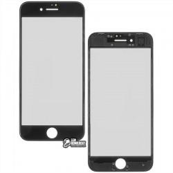 Стекло корпуса для Apple iPhone 8, с рамкой, черное